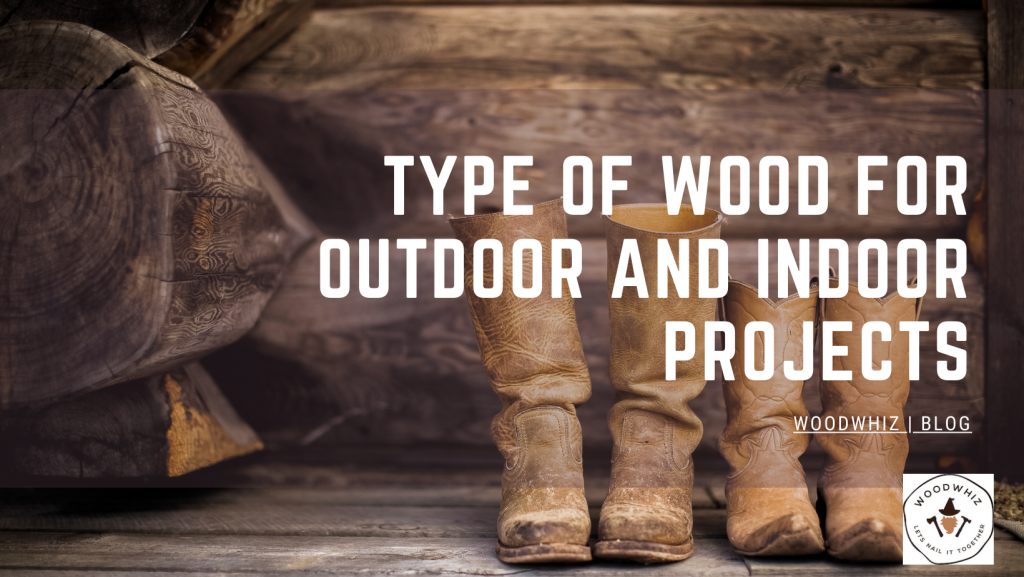 Different types of wood for indoor and outdoor projects